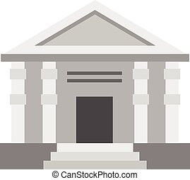 Colonnade icon, flat style - Colonnade icon in flat style...