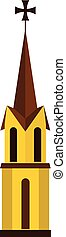 Church icon, flat style - Church icon in flat style isolated...