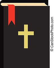 Bible icon, flat style - Bible icon in flat style isolated...