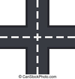 Crossing road icon, flat style - Crossing road icon in flat...