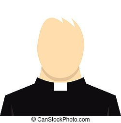 Priest icon, flat style - Priest icon in flat style isolated...