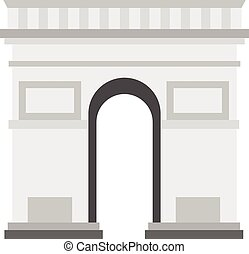 Triumphal Arch icon, flat style - Triumphal Arch icon in...