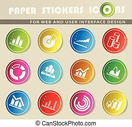 Diagram and infographic icons - Diagram and infographic...