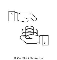 Money protection line icon. Business concept