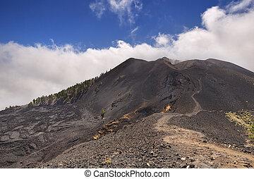 Volcanic landscape on La Palma - Volcanic landscape along...