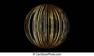 Abstract background with a sphere formed from the lines....