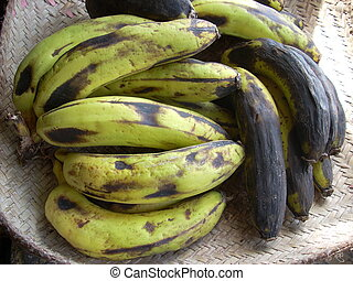 Sweet Malagasy Bananas, Old & New - Mix of ripe and over...