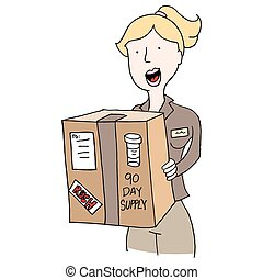Mail Order Medication Deilvery Girl - An image of a Mail...