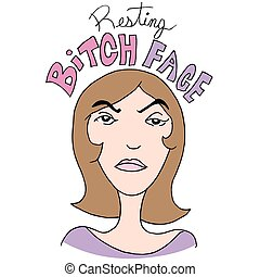 Resting Bitch Face Girl - An image of a Resting Bitch Face...