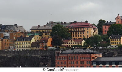 Stockholm. Old town. Architecture, old houses, streets and...