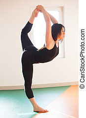 young dancer woman doing stretching