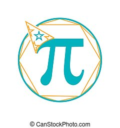 Icon Pi day - Icon Holiday - Pi day. Icon in the linear...