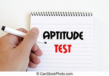 Aptitude test text concept isolated over white background