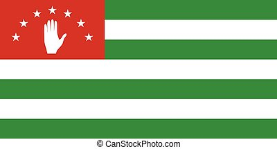 Official vector flag of Republic of Abkhazia .