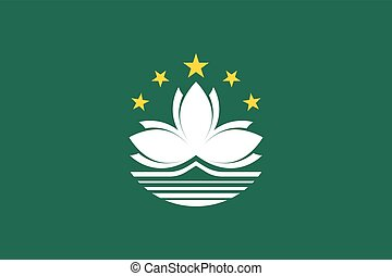 Official vector flag of Macau ( Macao Special Administrative...