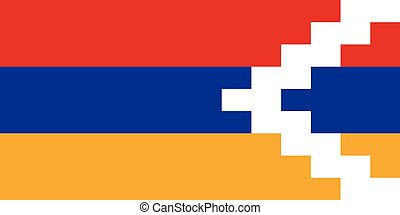 Official vector flag of Nagorno-Karabakh Republic .