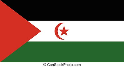 Official vector flag of Western Sahara .