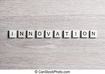 Innovation scrabble word - Concept of innovation made of...