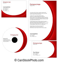 set of business templates including business card,cd cover...