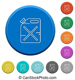 Gas can beveled buttons - Gas can round color beveled...