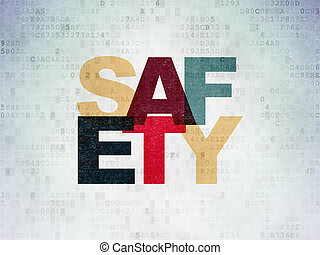 Protection concept: Safety on Digital Data Paper background