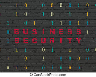 Protection concept: Business Security on wall background