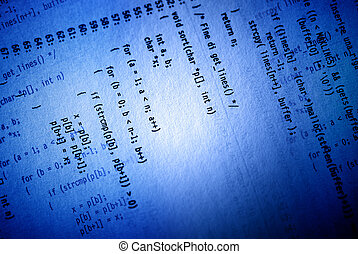 Programming concept - Blue programming concept background...