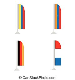 Set of flags - Set of world flags on a white background,...