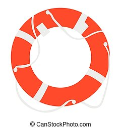 Isolated lifesaver icon on a white background, Vector...