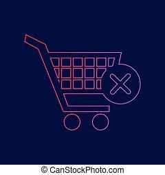 blauwe, shoppen, helling, meldingsbord, kar, donker, achtergrond, Kleuren,  Vector, viooltje, lijn, Schrap, rood, pictogram