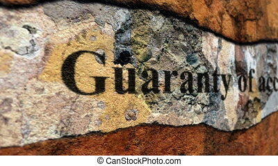 Guaranty of account grunge concept