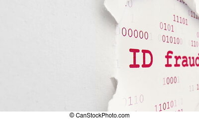 ID fraud on paper hole