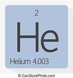 Helium - Vector illustration of the symbol of helium