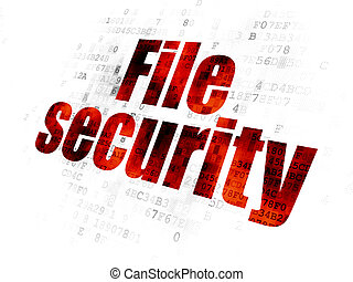 Safety concept: File Security on Digital background