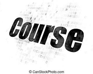 Education concept: Course on Digital background