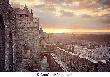 Cite de Carcassonne, France - Cite de Carcassonne, medieval...