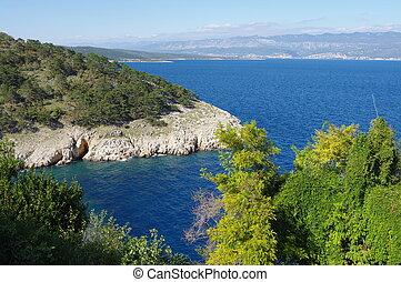 Vrbnik, Krk Island - Vrbnik, Croatia. A small town located...