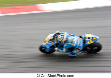 Motogp Racing (Blurred) - Intentionally blurred (to portray...