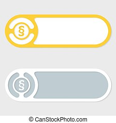 Set of two vector abstract buttons and paragraph mark
