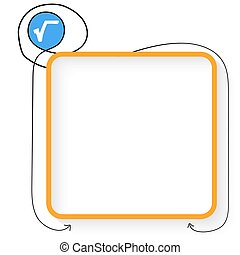 A yellow text box and square root symbol