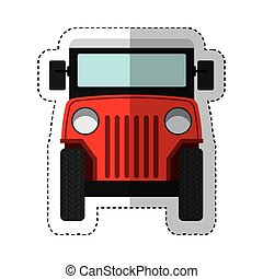 jeep colombian car vehicle vector illustration design