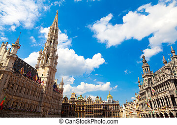 Grand Place, Brussels - Grand Place in Brussels, Belgium.