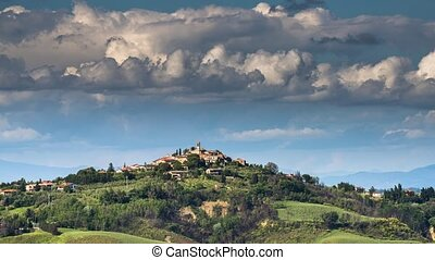 View on a Tuscany landscape.