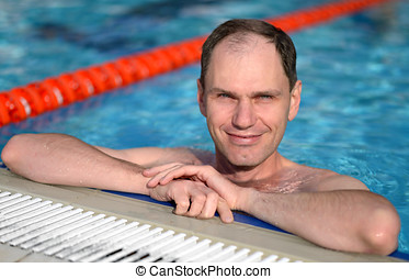 Man in a swimming pool
