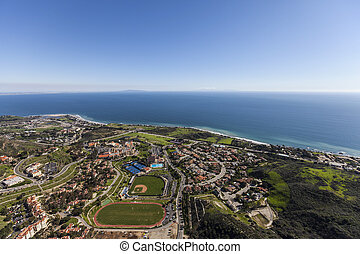 Malibu California Pacific Ocean View Aerial