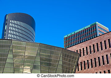 Dortmund, Germany - Modern architecture in downtown...