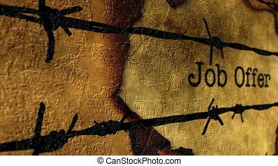 Forbidden job concept