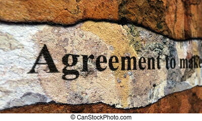 Lease agreement grunge concept