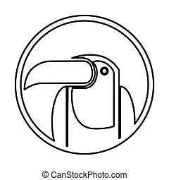 toucan bird brazil icon vector illustration design