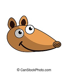 cute armadillo character icon vector illustration design